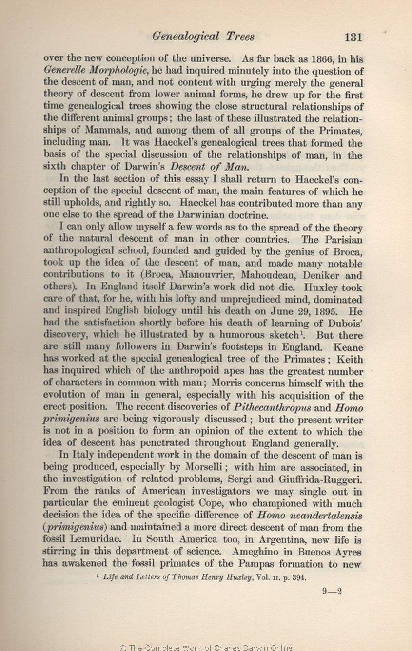 Seward, A. C. ed. 1909. Darwin and modern science. Essays in commemoration  of the centenary of the birth of Charles Darwin and of the fiftieth  anniversary ...