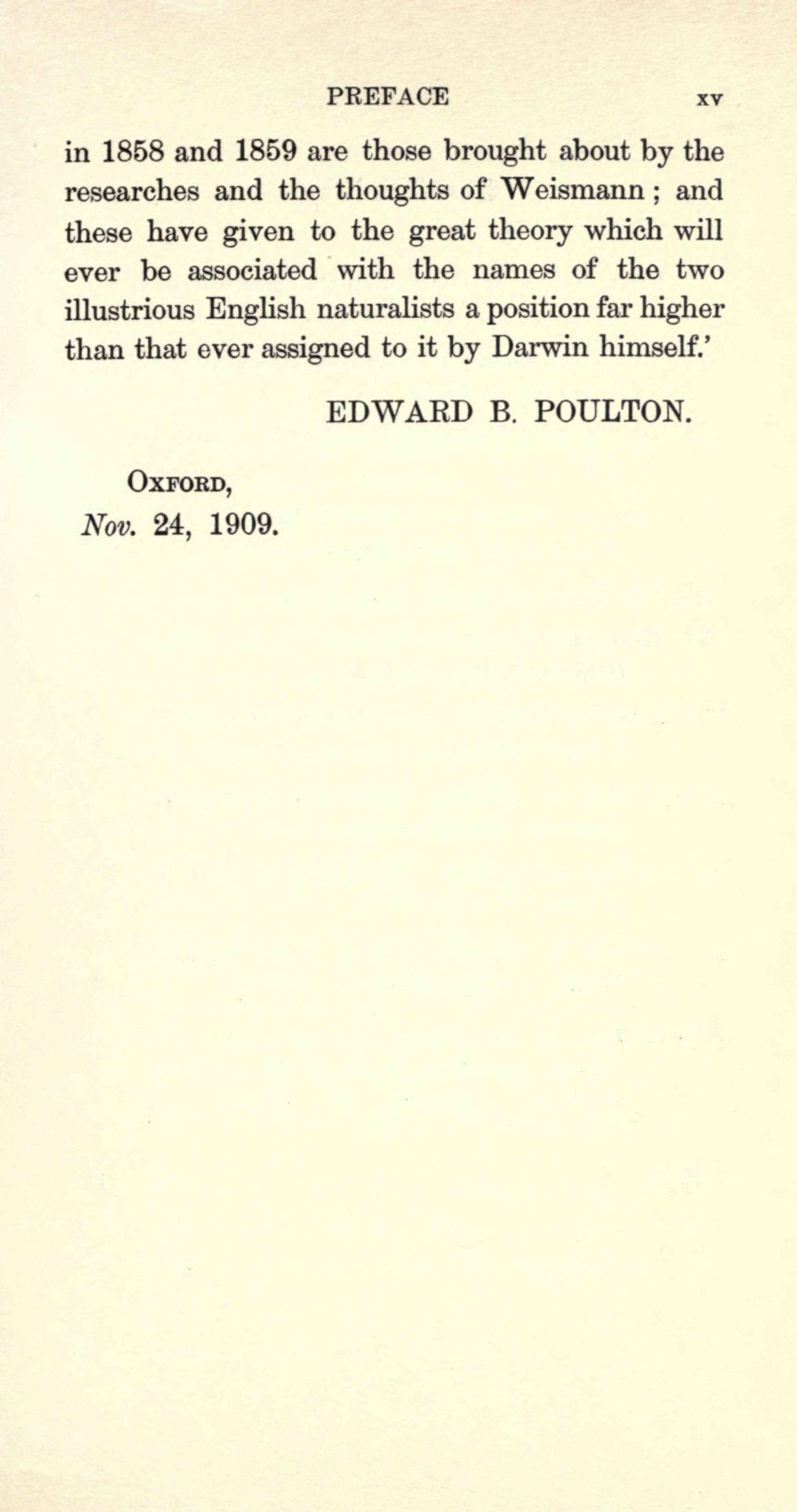 Poulton E B 1909 Charles Darwin And The Origin Of Species