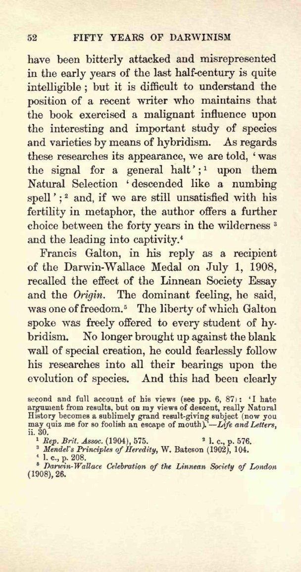 Poulton, E. B. 1909. Charles Darwin and the Origin of species ...