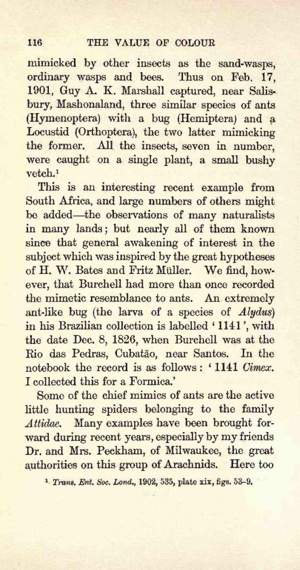 Poulton, E  B  1909  Charles Darwin and the Origin of species