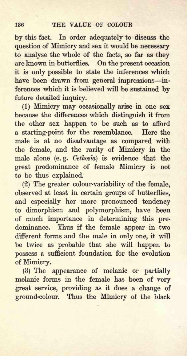 Poulton, E  B  1909  Charles Darwin and the Origin of