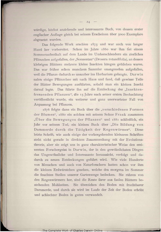 Weismann, August. 1909. Charles Darwin und sein Lebenswerk Festrede ...