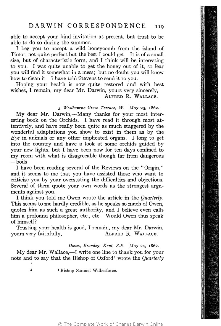 687ec61fb Marchant, James ed. 1916. Alfred Russel Wallace letters and reminiscences.  New York: Harper & Brothers.