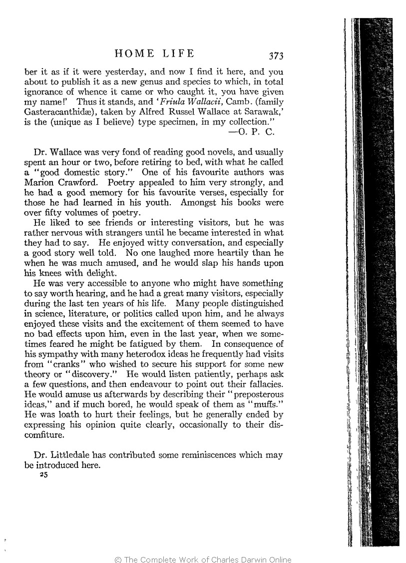 a0c8b6d46d Marchant, James ed. 1916. Alfred Russel Wallace letters and reminiscences.  New York: Harper & Brothers.