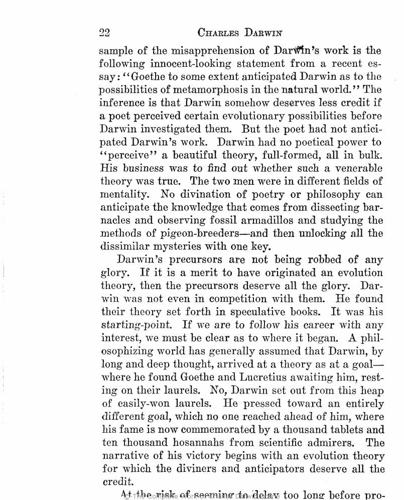 f71654af6d Charles Darwin  The man and his warfare. London  John Murray.
