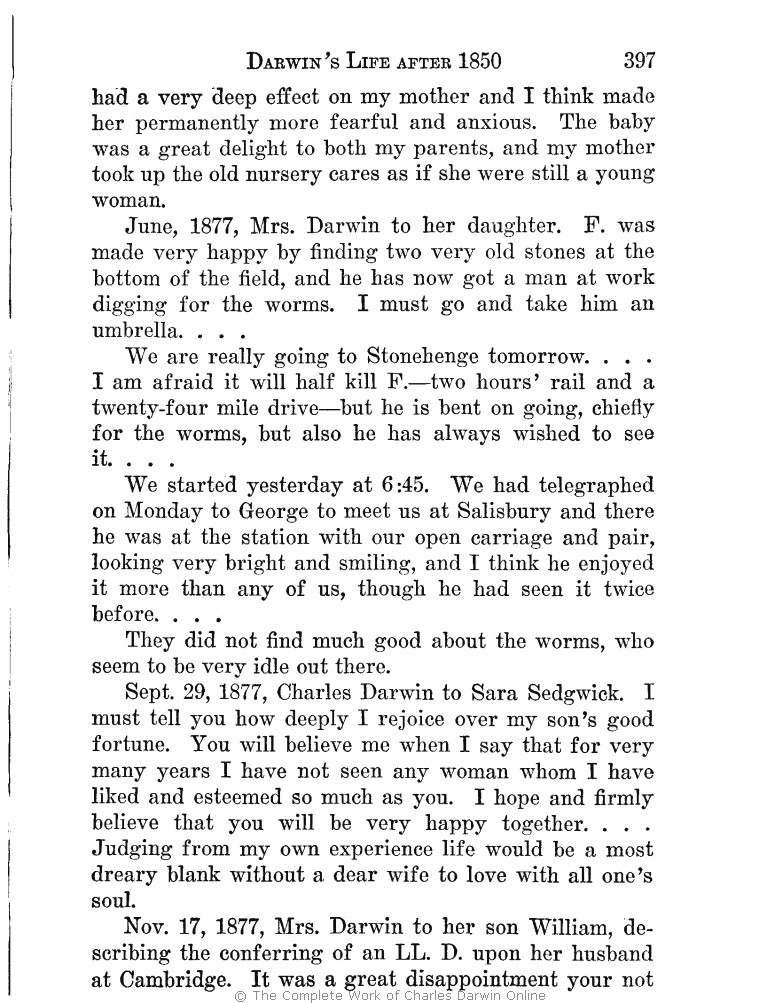 Ward, Henshaw  1927  Charles Darwin: The man and his warfare  London
