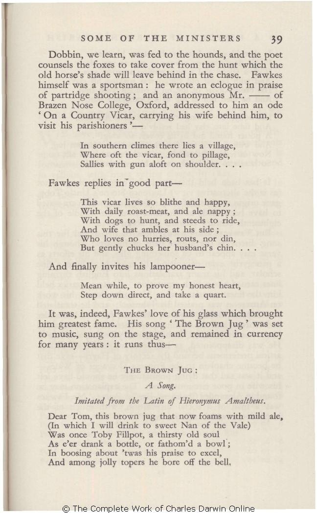 Howarth, O  J  R  and E  K  Howarth  [1933 ] A history of Darwin's