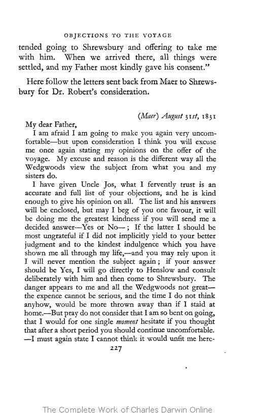Barlow, Nora ed  1958  The autobiography of Charles Darwin