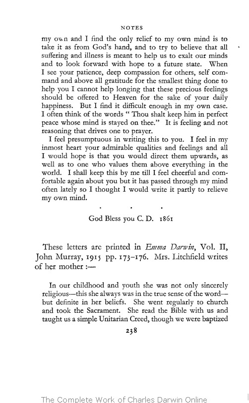3e9bf369276cb0 With the original omissions restored. Edited and with appendix and notes by  his grand-daughter Nora Barlow. London  Collins.