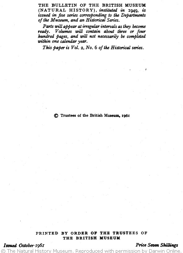 de Beer, G , Rowlands, M  J  eds  1961  Darwin's notebooks on