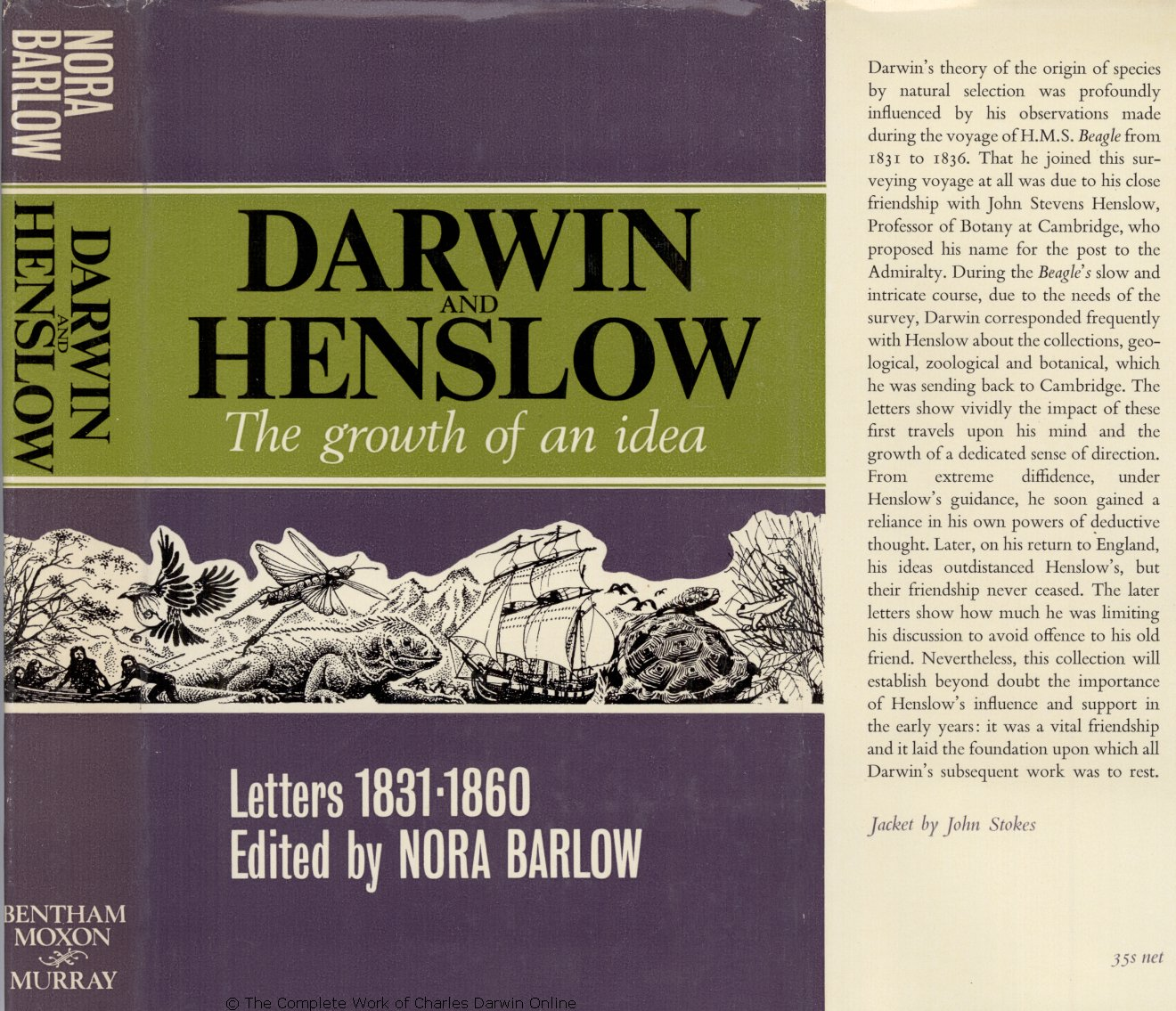 Barlow Nora Ed 1967 Darwin And Henslow The Growth Of An Idea Pigeon Magmag All In One Set Training Cup 3m London Bentham Moxon Trust John Murray
