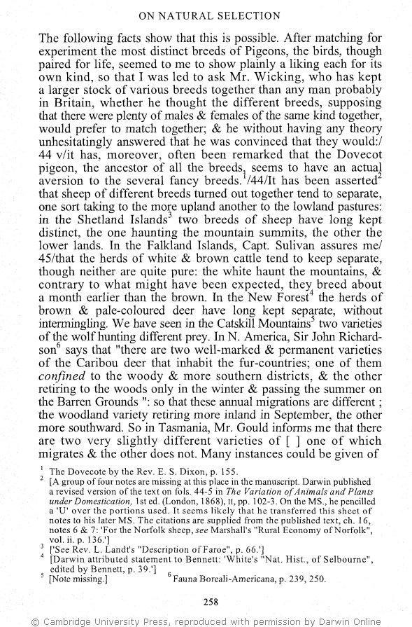 Stauffer, R  C  ed  1975  Charles Darwin's Natural Selection