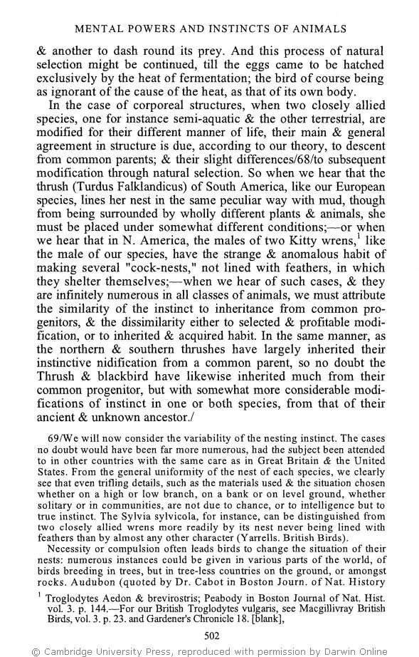 Stauffer r c ed 1975 charles darwins natural selection stauffer r c ed 1975 charles darwins natural selection being the second part of his big species book written from 1856 to 1858 platinumwayz