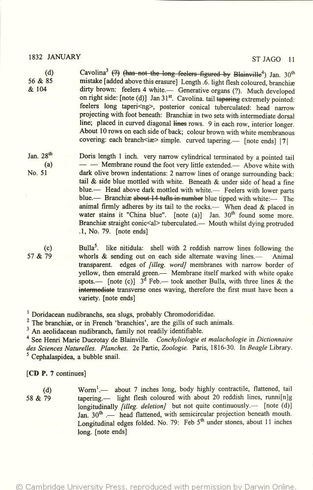 Keynes, Richard ed  2000  Charles Darwin's zoology notes