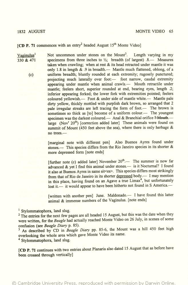 Keynes Richard Ed 2000 Charles Darwins Zoology Notes Specimen