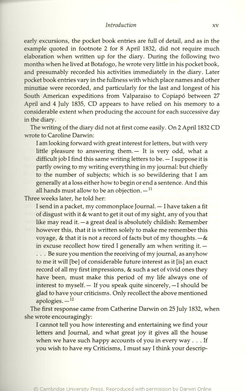 Keynes, R  D  ed  2001  Charles Darwin's Beagle diary  Cambridge