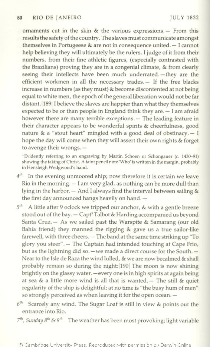 d9002493 Keynes, R. D. ed. 2001. Charles Darwin's Beagle diary. Cambridge: Cambridge  University Press.