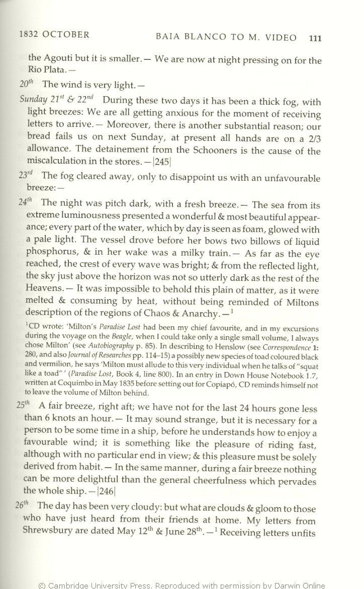 Keynes R D Ed 2001 Charles Darwins Beagle Diary Cambridge How To Install A Ground Fault Circuit Breaker Video Page 265 University Press
