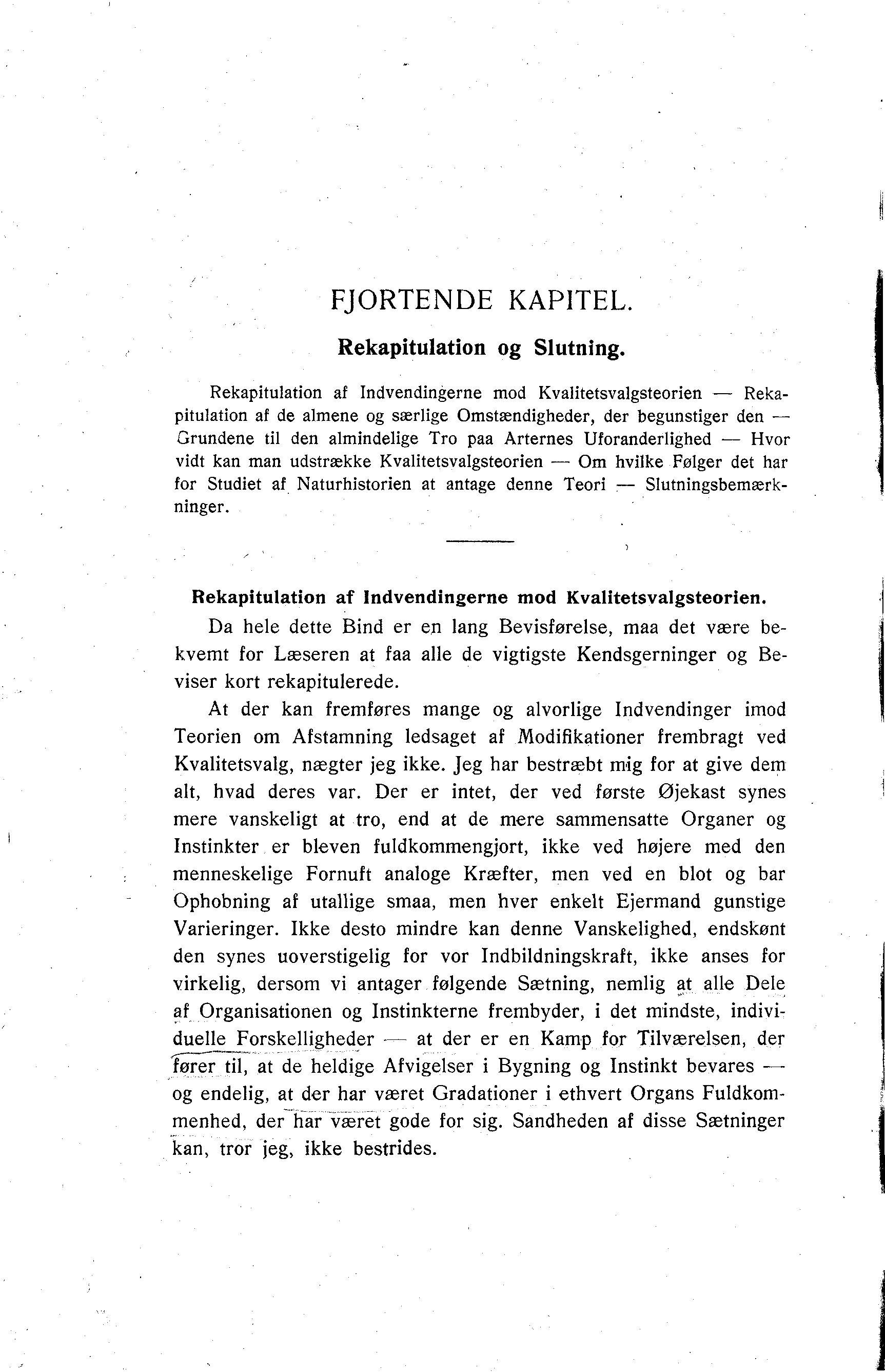 67fa48e3ef8 Darwin, C. R. 1909. Om Arternes Oprindelse ved Kvalitetsvalg eller ved de  heldigst stillede Formers Sejr i Kampen for Tilvaerelsen.