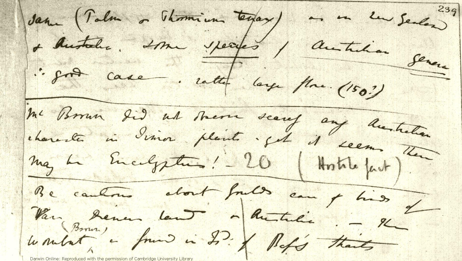 Darwin, C  R  Notebook C: [Transmutation of species (1838 02