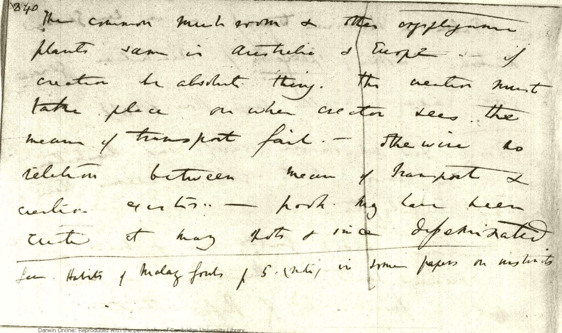 Darwin, C  R  Notebook C: [Transmutation of species (1838 02-1838 07