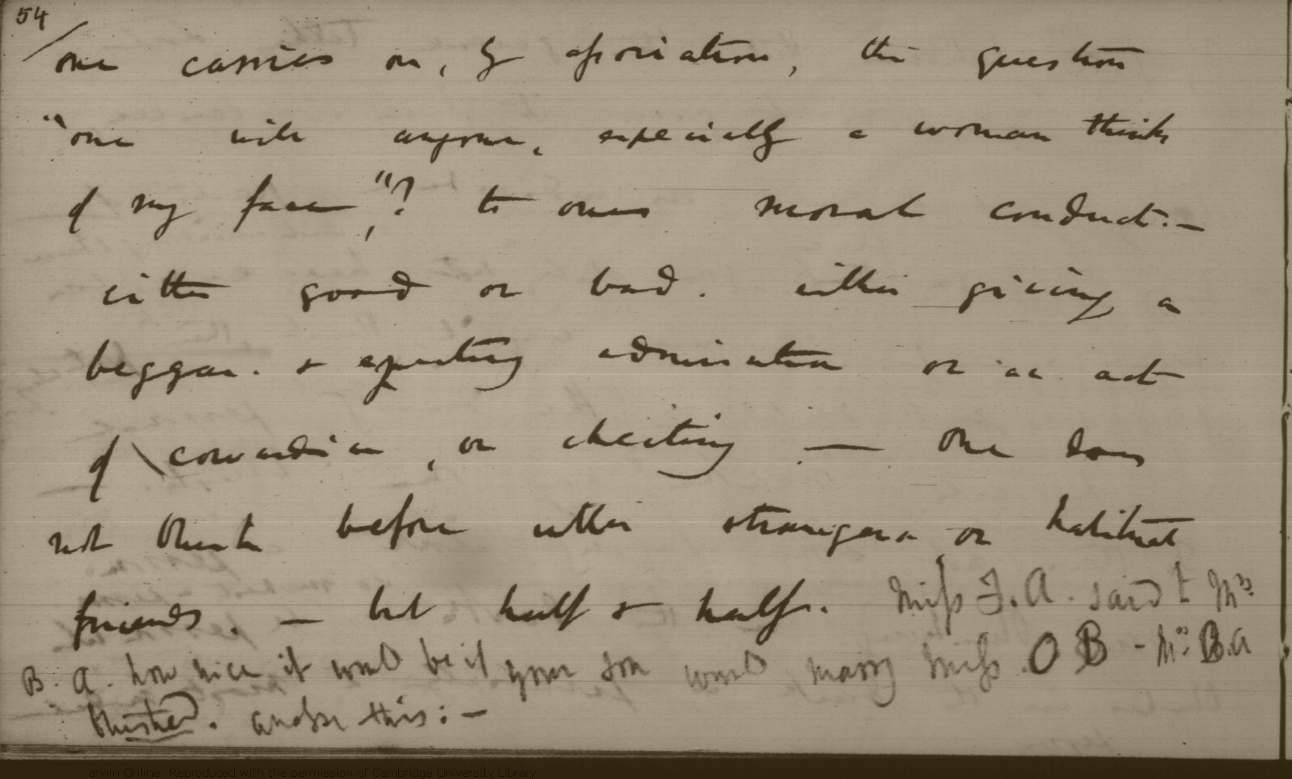 Darwin C  R  Notebook N: [Metaphysics and expression (1838