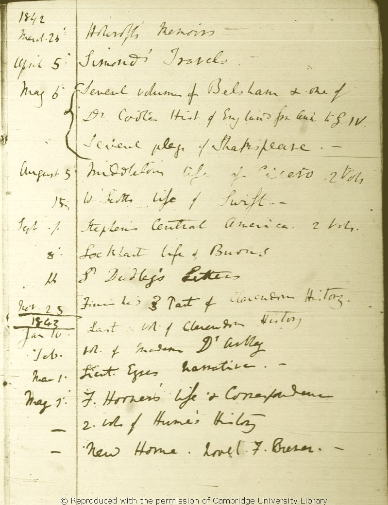 Darwin C. R. \'Books to be read\' and \'Books Read\' notebook. (1838 ...
