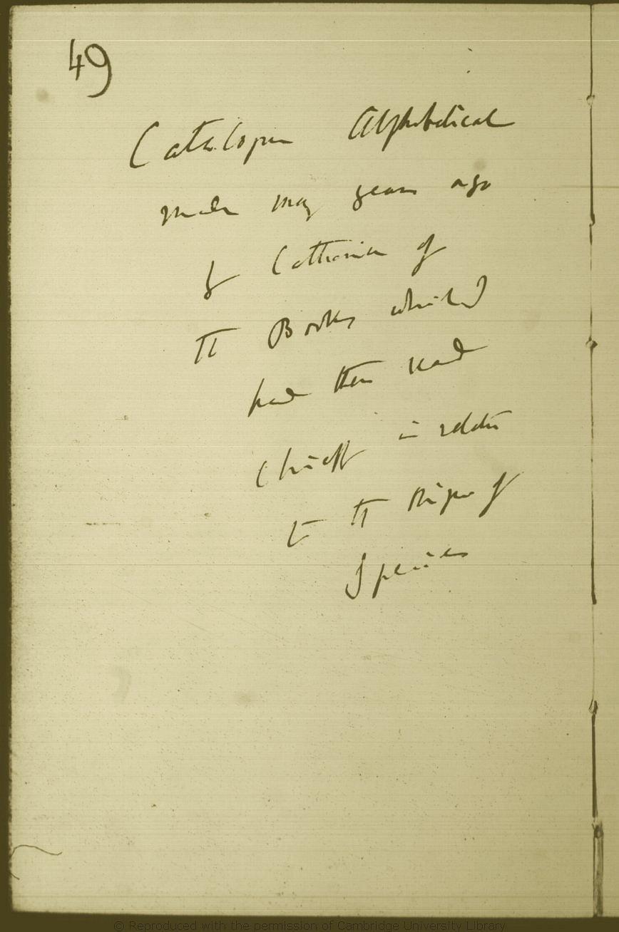 Darwin, C  R  'Books [read]' notebook  (1838-1858)  CUL-DAR120