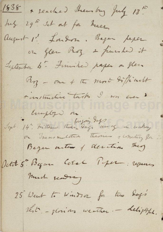 John van Wyhe ed , Darwin's 'Journal' (1809-1881)  CUL-DAR158 1-76