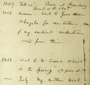 A page from Darwin's Journal (1838)
