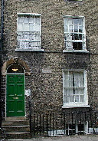Darwin's house on Fitzwilliam Street, Cambridge